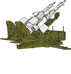 Air defense missile system vector