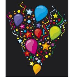 balloons party balloons vector image