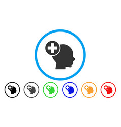 head treatment rounded icon vector image