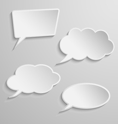 Set of four thought bubbles vector image vector image