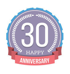 30 years anniversary emblem vector image