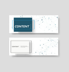 abstract connect background with connected lines vector image