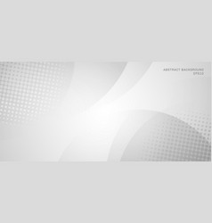 Abstract white and gray circles background vector