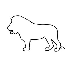 african lion in line style vector image