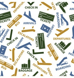 airport signs seamless color pattern eps10 vector image vector image