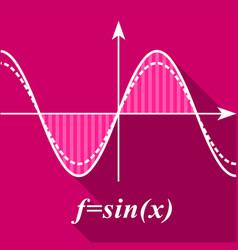 Algebra graph icon flat style vector