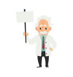 An old man with a mustache a scientist and a vector