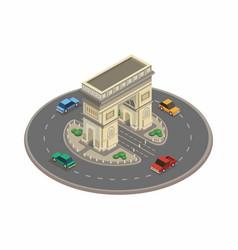 arc de triomphe monument france building landmark vector image