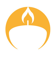Aroma therapy candle spa icon vector