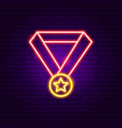 award medal neon sign vector image