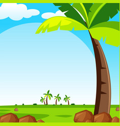 background scene with green lawn vector image