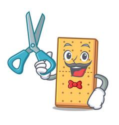 Barber graham cookies character cartoon vector