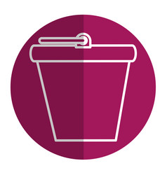 bucket pot isolated icon vector image