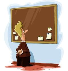 bulletin board vector image