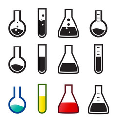 Chemical and lab icons vector
