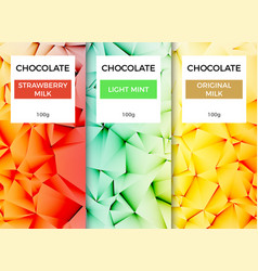 Chocolate bar packaging template design chocolate vector