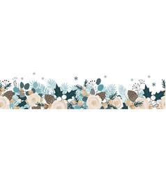 christmas seamless garland hand drawn vector image