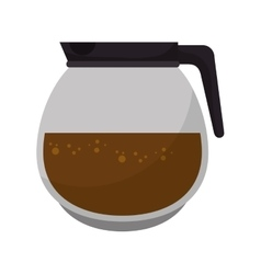 Coffee pot drink vector