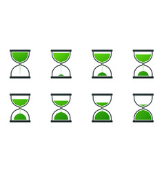 collection of hourglass icons vector image