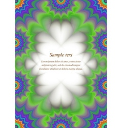 Colorful page border ornament design vector