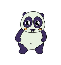 coloured panda line icon vector image
