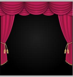 Curtain realistic vector