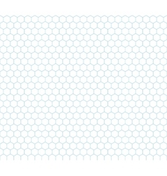 Cyan hexagon grid seamless pattern vector