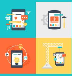 Design development services set vector