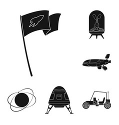 Design of mars and space logo set of mars vector