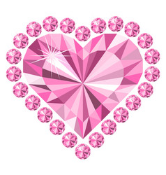 Diamonds heart love jewelry vector