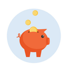 drawn piggy bank on white vector image