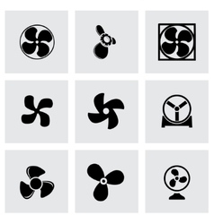 fans and propellers icons set vector image