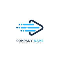 fast video logo icon design vector image