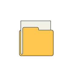 Folder flat vector