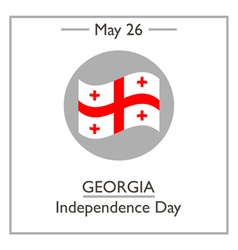 Georgia Independence Day vector
