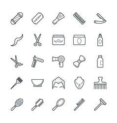 Hair salon cool icons 1 vector