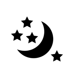 Half moon and stars icon simple style vector image