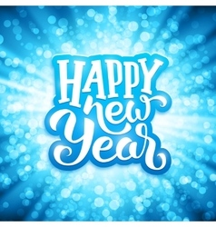 Happy New Year typography on festive background vector