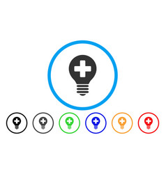 Healh care bulb rounded icon vector