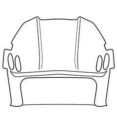 hockey helmet vector image