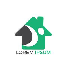 home care logo logo design vector image