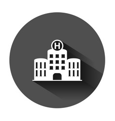 hospital building icon in flat style infirmary on vector image