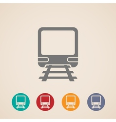 icon of train metro underground or subway train vector image