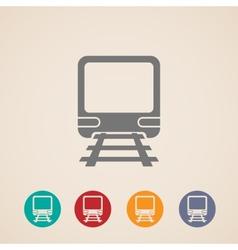 icon train metro underground or subway train vector image