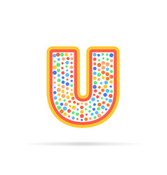 letter u with dots logo design vector image