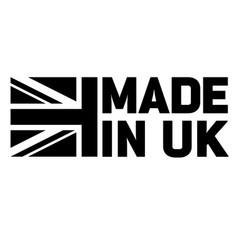 made in britain united kingdom uk logo black white vector image
