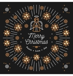 Merry christmas card xmas religious poster vector