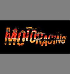 Off-road grunge moto lettering vector