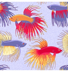 pattern betta fish vector image