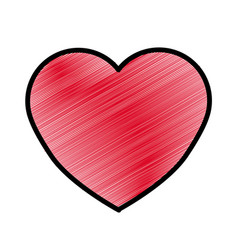 Red beautiful romantic heart icon vector